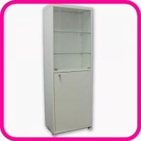 Шкаф медицинский металлический ШМ-01-МСК (МСК 645.02) стекло/металл