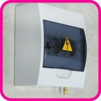 Щиток электрический ЩС Оптима-2-ЗК (2 розетки, 2 автомата 16A, клемма заземления)