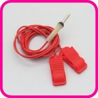 Токопровод 2-контактный с зажимами для ЭЛФОР (красный)