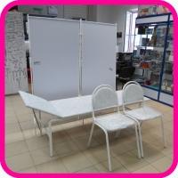 Медицинская мебель. Комплект №1: смотровая кушетка, ширма 2-х секц., 2 стула