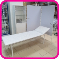 Медицинская мебель. Комплект №2: смотровая кушетка, ширма 2-х секц., шкаф медицинский