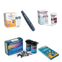 Тест-полоски, ланцеты, ручки для глюкометров
