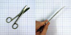Ножницы тупоконечные изогнутые 140 мм