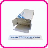 Шпатель для языка деревянный одноразовый стерильный Apexmed 150х18 мм