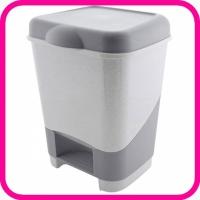 Ведро для мусора с педальной крышкой пластиковое 20 литров (урна)