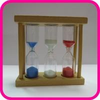 Часы песочные 1-3-5 мин в деревянной рамке