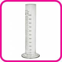Цилиндр мерный 1-1000-2 с носиком на стеклянном основании