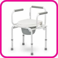 Кресло-туалет Армед FS813 с опускающимися подлокотниками