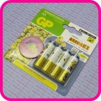 Батарейка GP AA LR6 Alkaline, упаковка 4 шт + подарок