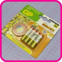 Батарейка GP AAA LR03 Alkaline, упаковка 4 шт + подарок