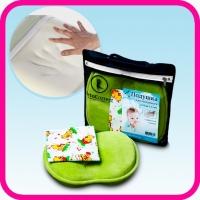 Подушка анатомическая OrtoCorrect BabySleep для грудничков + фланелевая наволочка