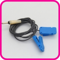 Токопровод 2-контактный с зажимом для ЭЛФОР (синий)
