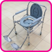 Кресло-туалет LK 8001 складное с колесами и подножками