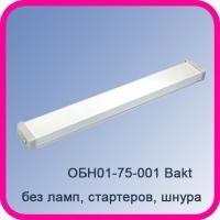 Облучатель бактерицидный ОБН01-75-001 Bakt настенный (без ламп, без стартеров, без шнура)