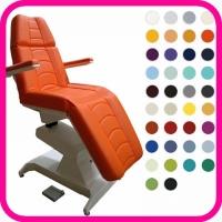 Кресло косметологическое Ондеви-2 с ножной педалью управления и прямыми подлокотниками (2 электропривода)