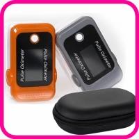 Пульсоксиметр Oximetr Bluetooth с чехлом, портативный на палец, бытовой